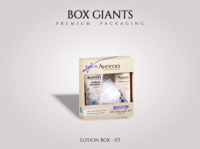 Custom Printed Lotion Boxes
