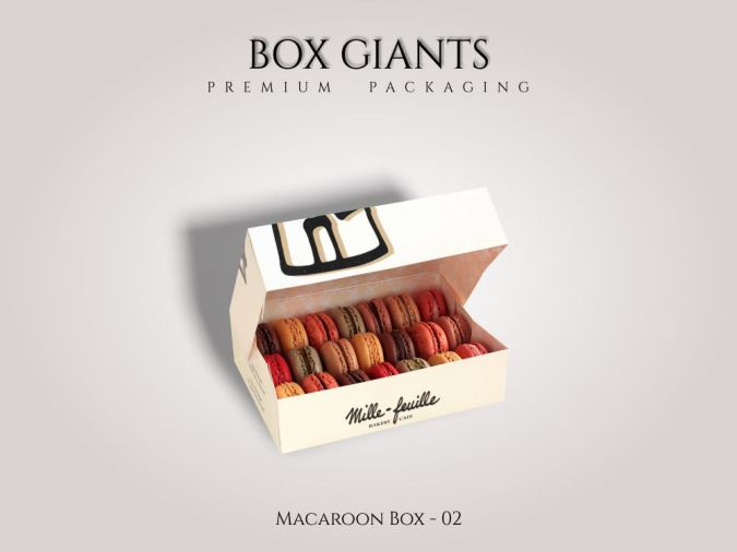 Custom Printed Macaroon Boxes