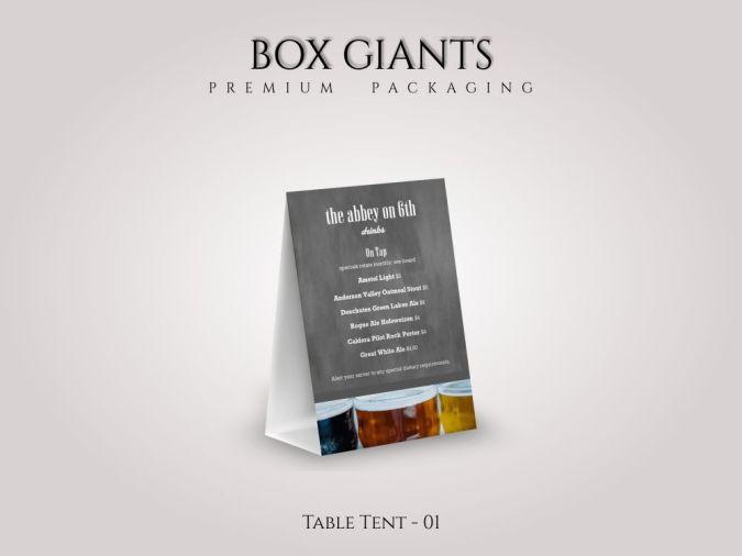 Custom Printed Table Tent