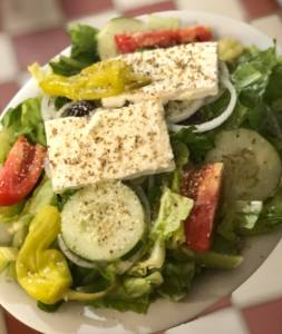 Learn how to make a traditional Greek salad, or come into Box Hill to try our famous salad!