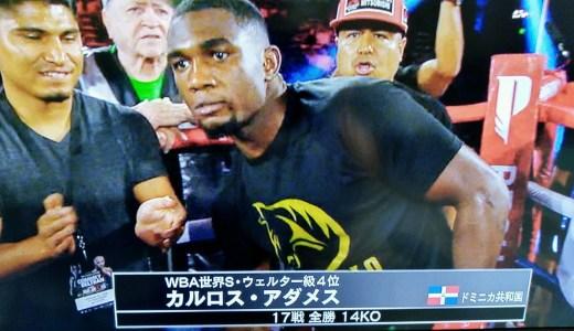 村田諒太のスパーリングパートナー、パトリック・デイが、強打のカルロス・アダメスに大善戦