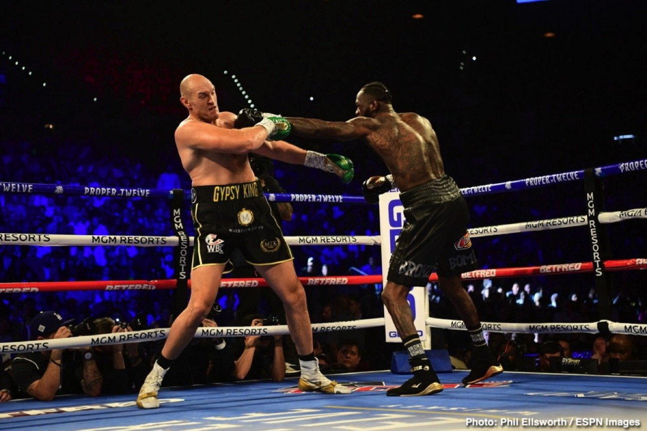Tyson Fury Says He'll Punish Deontay Wilder Inside The Ring
