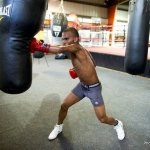 9 ago 2013 Bomba Gonzalez last pre weigh in and training for Giovani Segura 13
