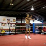 9 ago 2013 Bomba Gonzalez last pre weigh in and training for Giovani Segura 2-001