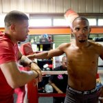 9 ago 2013 Bomba Gonzalez last pre weigh in and training for Giovani Segura 8