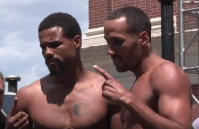 Dirrell vs DeGale - Andre Dirrell and James DeGale pose at weigh-in