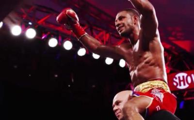Brook vs Bizier - Kell Brook celebrates 2nd round TKO victory over Kevin Bizier