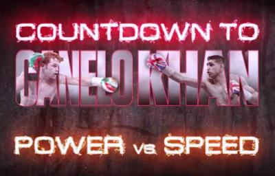 Canelo vs Khan Countdown boxing banner