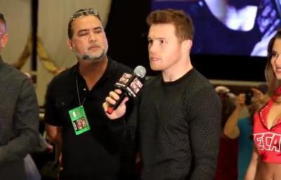 Canelo Alvarez arrives at the MGM Grand ahead of Amir Khan title defense