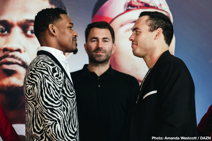 Anthony Joshua Billy Joe Saunders Daniel Jacobs Julio Cesar Chavez Jr. Andy Ruiz Callum Smith DAZN Eddie Hearn Jacobs vs. Chavez Joshua vs Ruiz