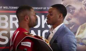 brook vs spence face off