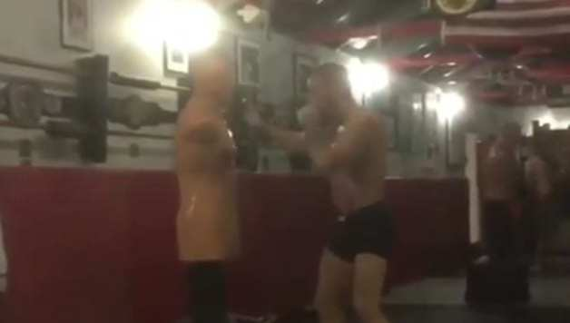 McGregor Working Boxing
