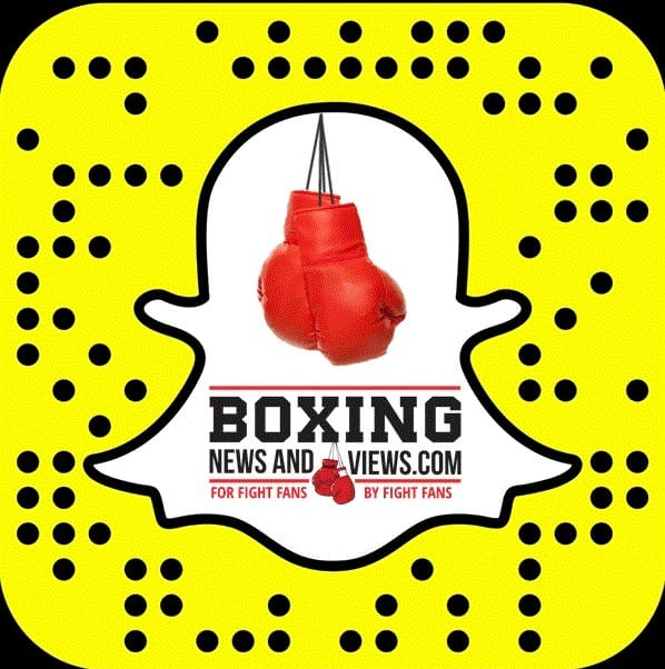 snapchat boxing news and views
