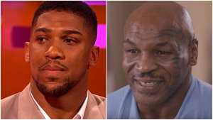anthony joshua on mike tyson