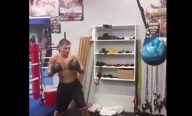 Watch: Golovkin Working On Power Punching For Canelo