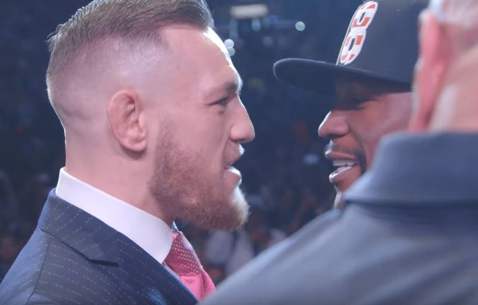 McGregor reacts to Mayweather