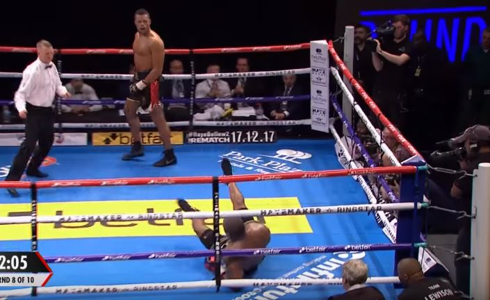 Heavyweight Knocks Himself Down With His Own Punch Ricochet