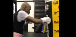 mayweather back in the gym