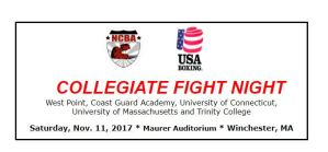 Collegiate Fight Night