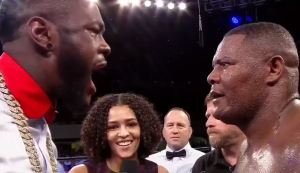 Deontay Wilder Confronts
