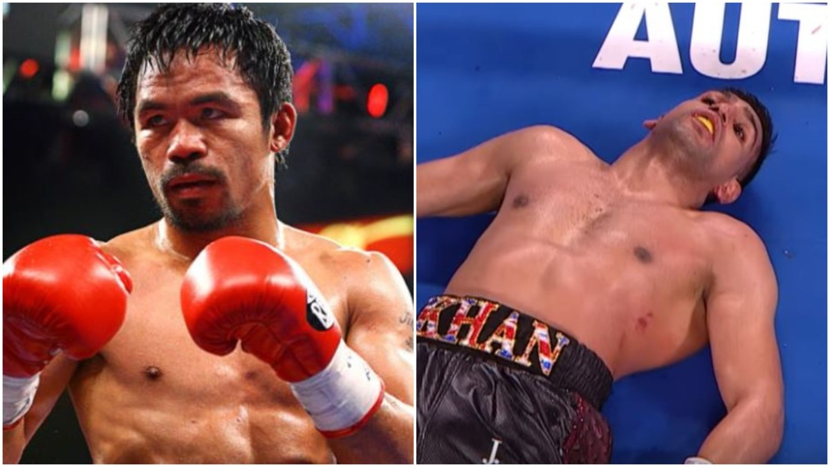 Manny Pacquiao Mocks Amir Khan Back Following Online Dig