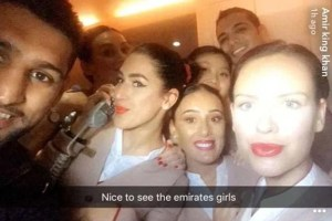 amir khan living it large with air hostesses