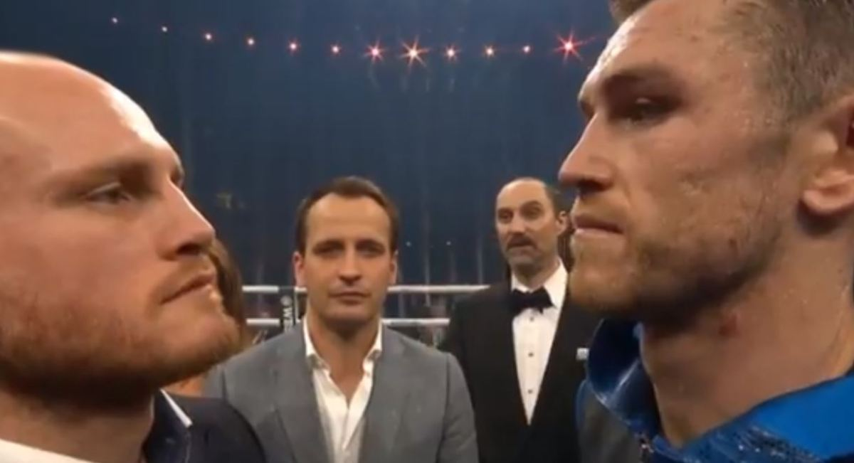 The Moment Callum Smith and George Groves Came Face To Face