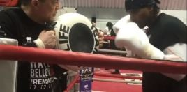 David Haye Destroying The Pads