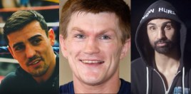 Ricky Hatton, Paulie Malignaggi and Anthony Crolla