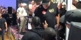 Wilder Storms Fury Weigh In - Fury's Dad Big John Fury Kicks Off