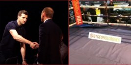 Carl Froch Narrates In Ring Video Of Spot He Knocked Groves Out In At Wembley Stadium