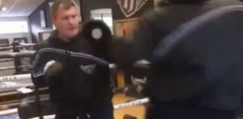 Ricky Hatton Heavyweight Protege Shows Off Freakish Speed