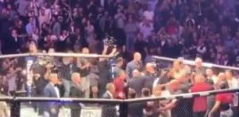 The Moment Conor McGregor Get Assaulted In The Ring After Fight Ended