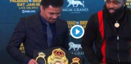 Boxing Fans Love How Broner Reacted To Pacquiao Showing Off His Belt