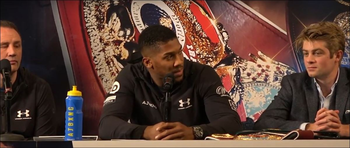 Anthony Joshua Reacts To Personal Insults About His Mother