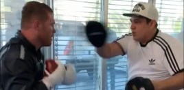 Canelo Alvarez Shows Off Speed and Slick Pad Work Ahead Of Jacobs Fight