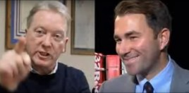 Frank Warren Takes Snipe At Joshua and Hearn Through Saunders World Title Fight