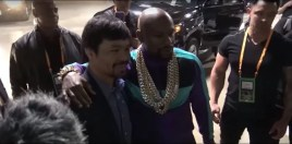 Mayweather and Pacquiao Meet At Spence vs Garcia Fight