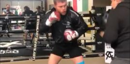 Canelo Alvarez Shows Off Explosive Power Punching Ahead Of Jacobs Bout