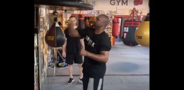 Watch: Roy Jones Shows Slick Speed Bag Skills For Mike Tyson Fight