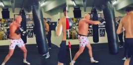 Tyson Fury Lets 12 Punch Combination Go and Blasts Deontay Wilder