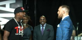 Floyd Mayweather Reacts To Conor McGregor Breaking Leg and Loss