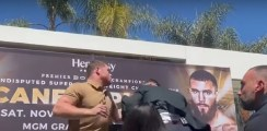 Canelo vs Plant Bareknuckle Altercation In Slow Motion