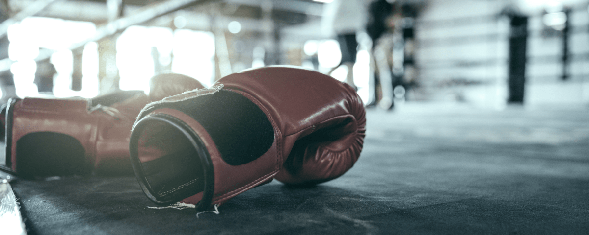 boxing gloves in ring wallpaper