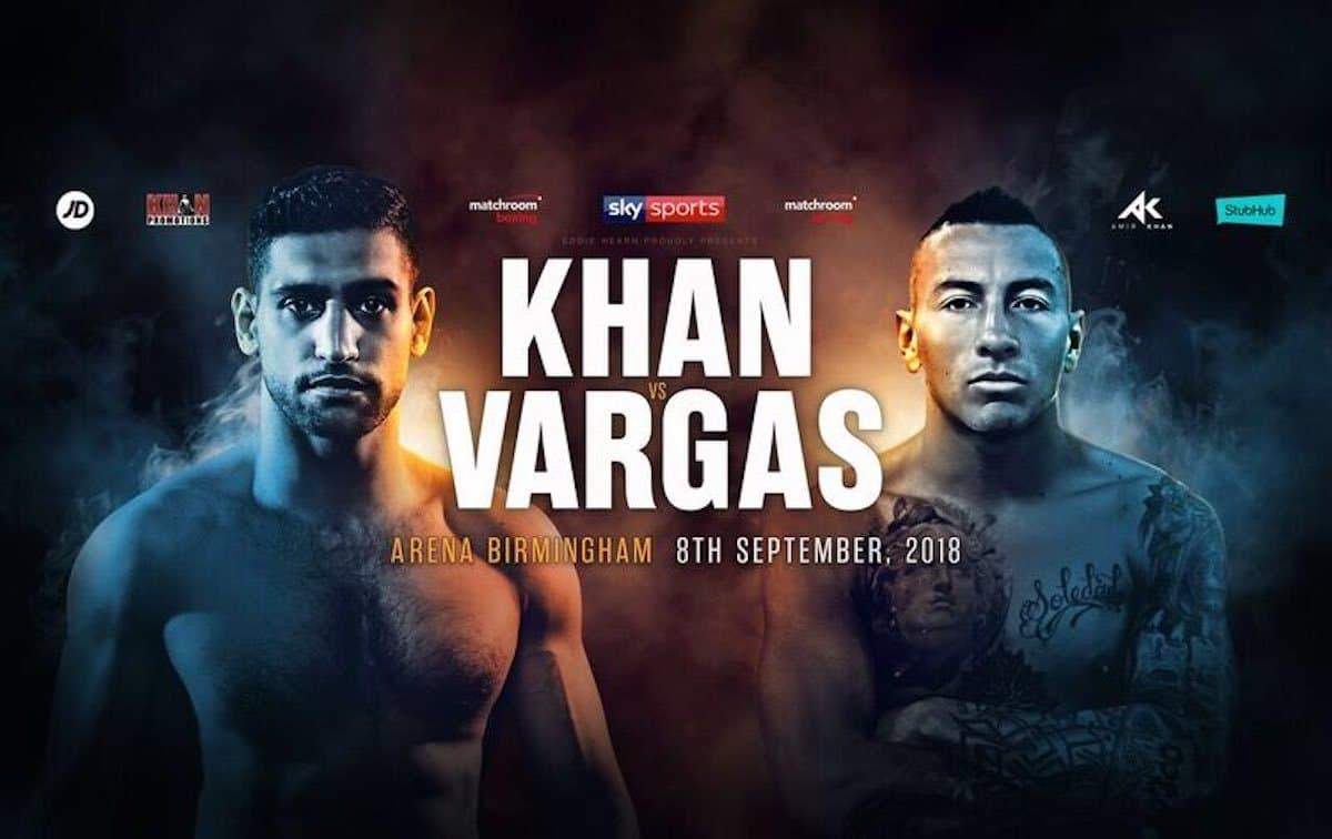 Khan vs Vargas –  September 8 – Birmingham