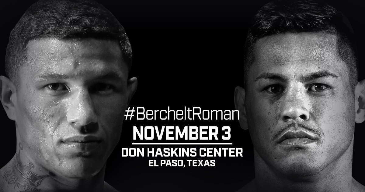 Berchelt vs Roman - November 3  - El Paso, TX @  El Paso, TX | El Paso | Texas | United States