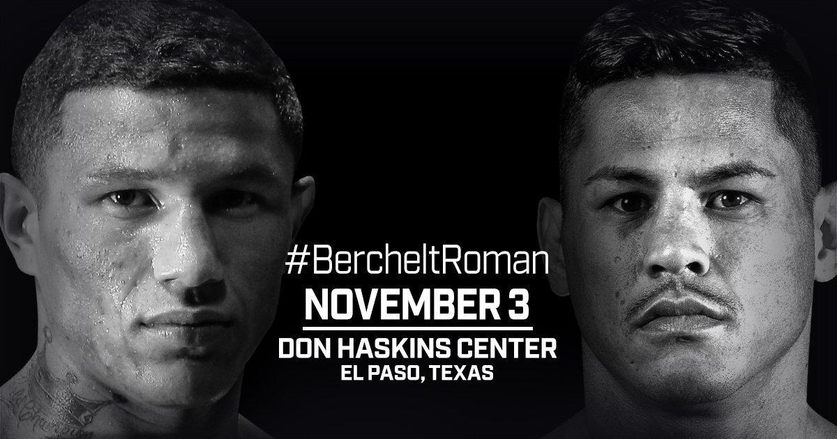 Berchelt vs Roman – November 3  – El Paso, TX