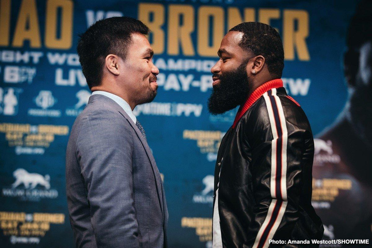 Pacquiao vs Broner – January 19 – Las Vegas