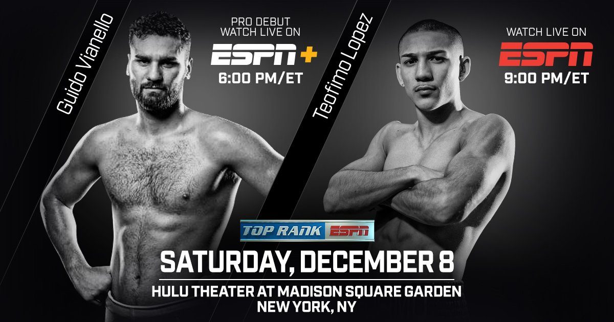 Lopez vs  Menard - December 8 - New York @ New York | New York | New York | United States