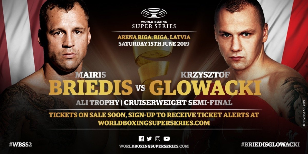 Briedis vs  Glowacki - June 15 - DAZN @ Arena Riga in Riga, Latvia. | Rīga | Latvia